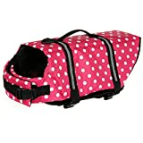 Suyi-Chaleco Salvavidas para Perros y Mascotas con Cinturón Ajustable Rosa, Azul, Amarillo, Tamaños XS, S, M, L, XL