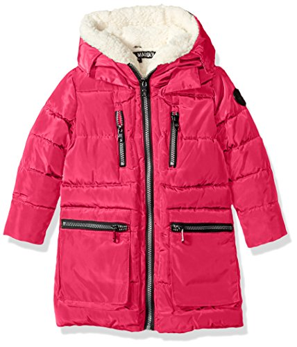 Steve Madden Little Girls' Bubble Jacket (More Styles Available), Long Bubble/Rose, 5/6