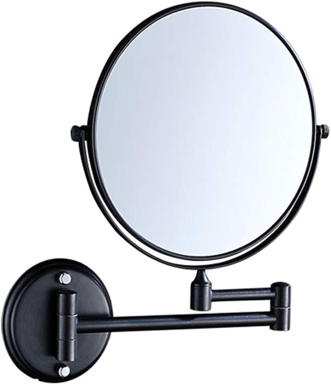 Telescopic Mirror Household Makeup Mirror Bathroom Mirror Hotel Makeup Mirror Wall-Mounted Beauty Mirror Telescopic Folding Mirror Bathroom Magnification Double Mirror Dressing Mirror Double-Sided Triple Magnification Mirror redating Mirror,A