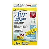 Ayr Saline Nasal Rinse Kit - 1 Bottle, 100 Refills, Pack of 5