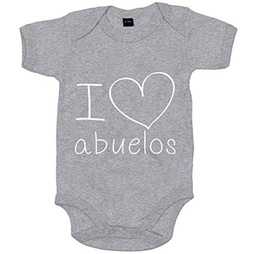 Body bebé I Love abuelos - Gris, 6-12 meses