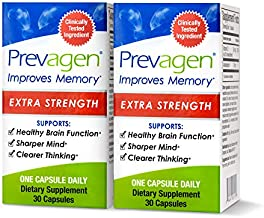 Prevagen Improves Memory - Extra Strength 20mg, 30 Capsules |2 Pack| with Apoaequorin & Vitamin D|Brain Supplement for Better Brain Health, Supports Healthy Brain Function & Clarity|Memory Supplement