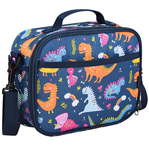 Momcozy Kids Lunch Bag for Boys and Girls, Insulated Lunch Kit for School and Travel, Compatible with Most Kids Lunch Box like Bentgo, DaCool, Bento, etc.(Dinosaur)