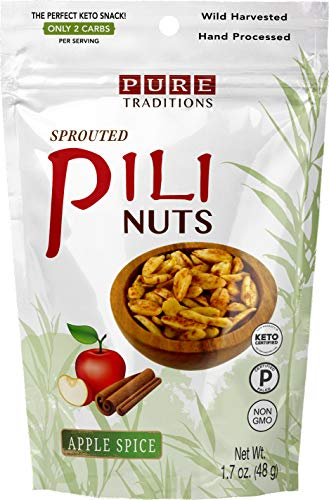 Sprouted Pili Nuts, Apple Spice, Certified Paleo & Keto (1.7 oz)