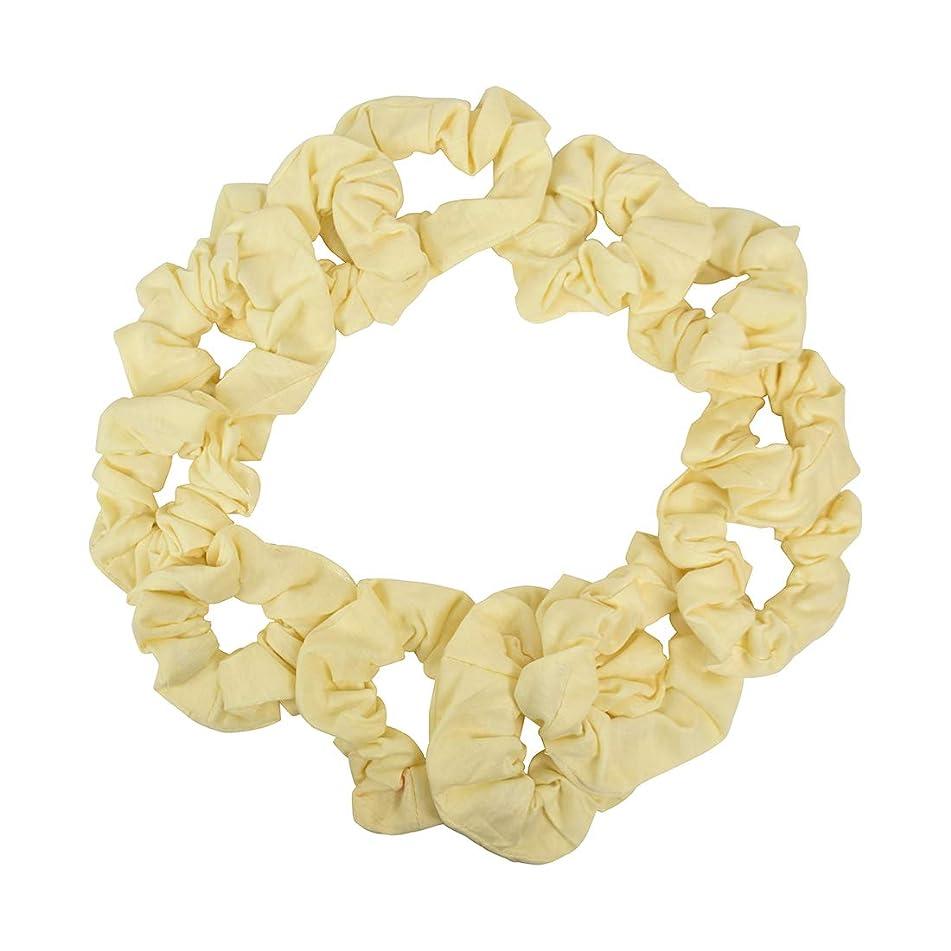 12 Pack Solid Hair Ties Scrunchies - Cream