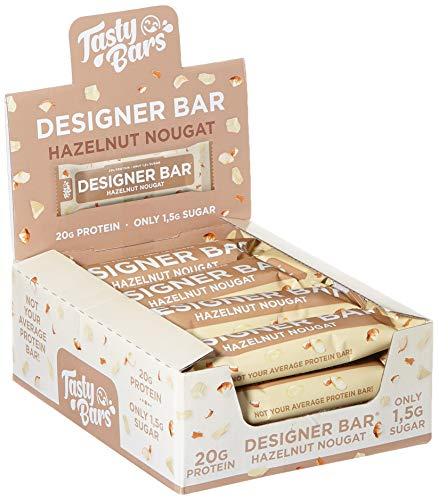 ESN Tasty Bars, Designer Bar Box, Hazelnut Nougat, 12 Riegel, 720 g