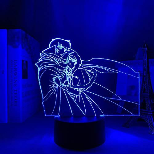 Día del Padre Regalo Lodoss Guerra Anime Record Dormitorio Decoración Luz de Noche Niños Regalo de Cumpleaños Cómics Lodoss Guerra Record 3D lámpara cabecera ERJIE