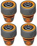AERZETIX - Juego de 4 Racores/Conectores rápidos 3/4'' para Manguera de riego - Adaptador/Accesorio para Pistola/válvula/Grifo de riego - plástico ABS - C47478