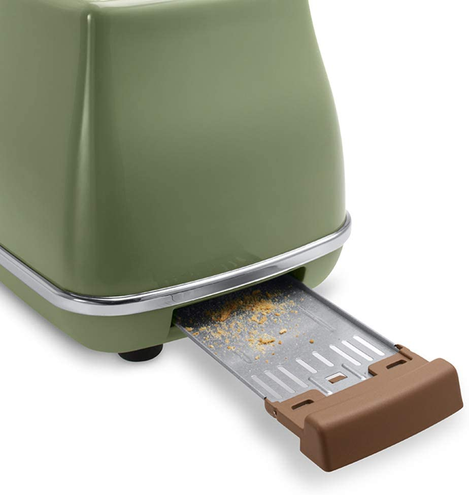 Tosti apparaat, twee sneetjes breed brood door roestvrijstalen huis multifunctionele ontbijtmachine 6 snelheidsregeling Green