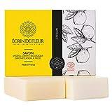 ÉCRIN DE FLEUR | Zertifizierte Bio von Ecocert | Zitronenseife | Spritzige Zitronen-Seife für...
