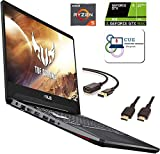 "Asus TUF Gaming Laptop, 15.6"" IPS Full HD, AMD Quad-Core Ryzen 5 3550H, 8GB DDR4 Memory, 256GB SSD, Nvidia GeForce GTX 1650, RGB Backlit Keyboard, Webcam, BT, Windows 10 + CUE Accessories"