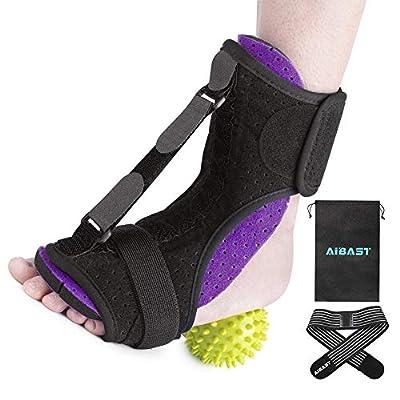AiBast Plantar Fasciitis Night Splint, 2020 New Upgraded Purple Multi Adjustable Ankle Brace Foot Drop Orthotic Brace for Plantar Fasciitis, Arch Foot Pain, Achilles Tendonitis Support for Women, Men