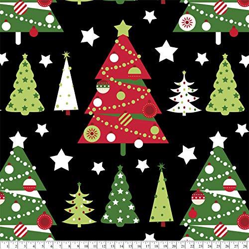 Christmas Trees Anti-Pill Fleece Fabric by The Yard