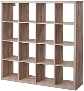 Ikea Kallax 4x4 Shelf Unit Walnut Effect Light Gray 003.601.44