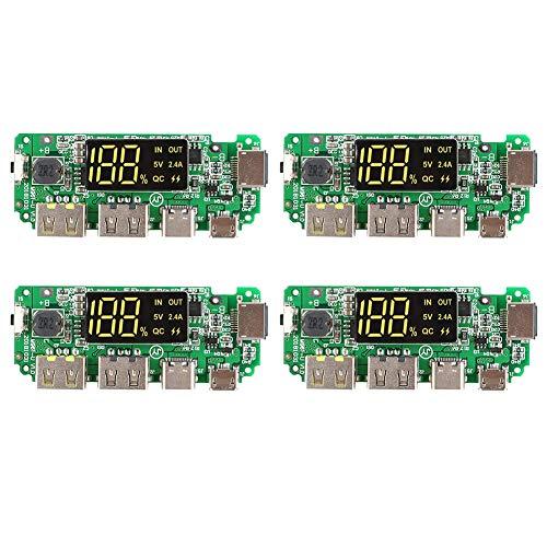 Cargador de batería de litio 5 V 2.4 A Móvil Módulo de Banco de Energía Móvil Módulo de Carga con Display Boost Módulo 4 unids Nuevo