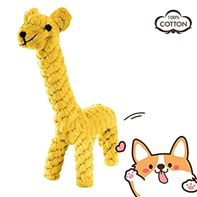 MEKEET AINIMO Puppy Boredom Rope Toy, Cotton Natural Teeth Cleaning Chew Small Dog Toy by MEKEET