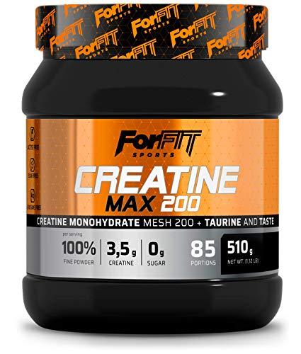 ForFIT Sports Kreatin Max Kreatin + Taurin-Pulver, Orange (510g, 85 Portionen)