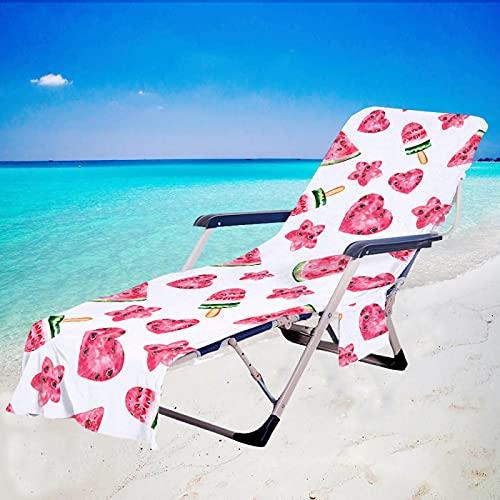 Toallas De Playa De La Serie Watermelon, Fundas De Microfibra para Sillas De Playa, Fundas De Toallas Superabsorbentes De Secado Rápido, Utilizadas En Piscinas, Jardines, Hoteles, Etc. 75 * 210cm