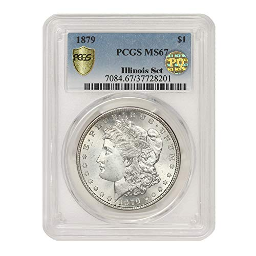 1879 American Silver Morgan Dollar MS-67 PQ Approved Illinois Set by CoinFolio $1 MS67 PCGS