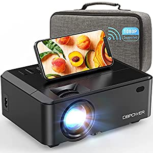 WiFi Mini Projector, DBPOWER 7000L HD Video Projector with Carrying Case&Zoom, 1080P and iOS/Android Sync Screen…
