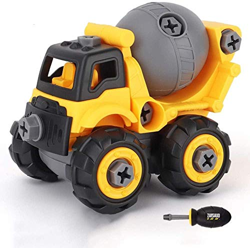 Take Apart Toy Construction Toy Kit Ensamblaje Toy Excavator Construcciones Set Digger Vehicle Play Set Destornillador Juguete Educativo Ideal niños pequeños Niños y niñas de 3