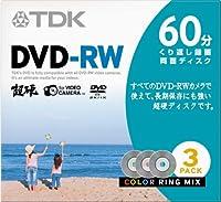 TDK 8cmDVD-RW 60分記録 超硬 ジュエルケース 3枚パック DRW60HCM3A