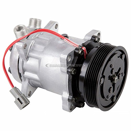 AC Compressor & 119mm 4.68' 6-Groove A/C Clutch For Ford Motorhome Replaces Sanden SD7H15 SD709 4653 4727 w/ 12v Coil - BuyAutoParts 60-01901NA NEW