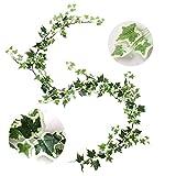 Guirnalda de Hiedra Artificial, 1 Unidades de Hojas Verdes para Colgar en el hogar, jardí