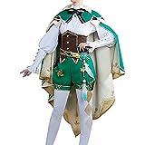 Disfraz de Genshin Impact, Lisa/Amber/Venti, Conjunto de Juego de Cosplay, Conjunto Completo, Vestido de Traje para niñas y Mujeres
