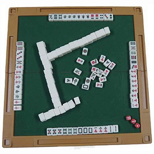 Grote haai mahjong reizen set reizen familie vrije tijd mahjong set mini mahjong liniaal tafelkleed klassieke tegel spelletjes mahjong