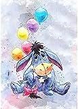 Xpboao Pintar por números - Globos y Animales de Dibujos Animados - Pintura de Arte Moderno - Kit de Pintura de Bricolaje Adecuado para Adultos y Principiantes - 40x50cm - Sin Marco