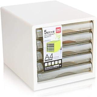 KANJJ-YU Tiroir de bureau Sorter, Archive Cabinet 5 couches en plastique Informations Tiroir Bureau A4 Stockage (Couleur: ...
