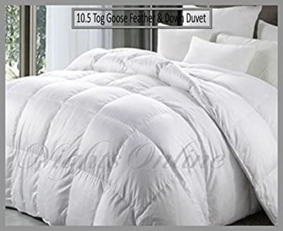 New Hotel Quality Goose Feather & Down Duvet, 10.5 Tog Quilt All Sizes Available