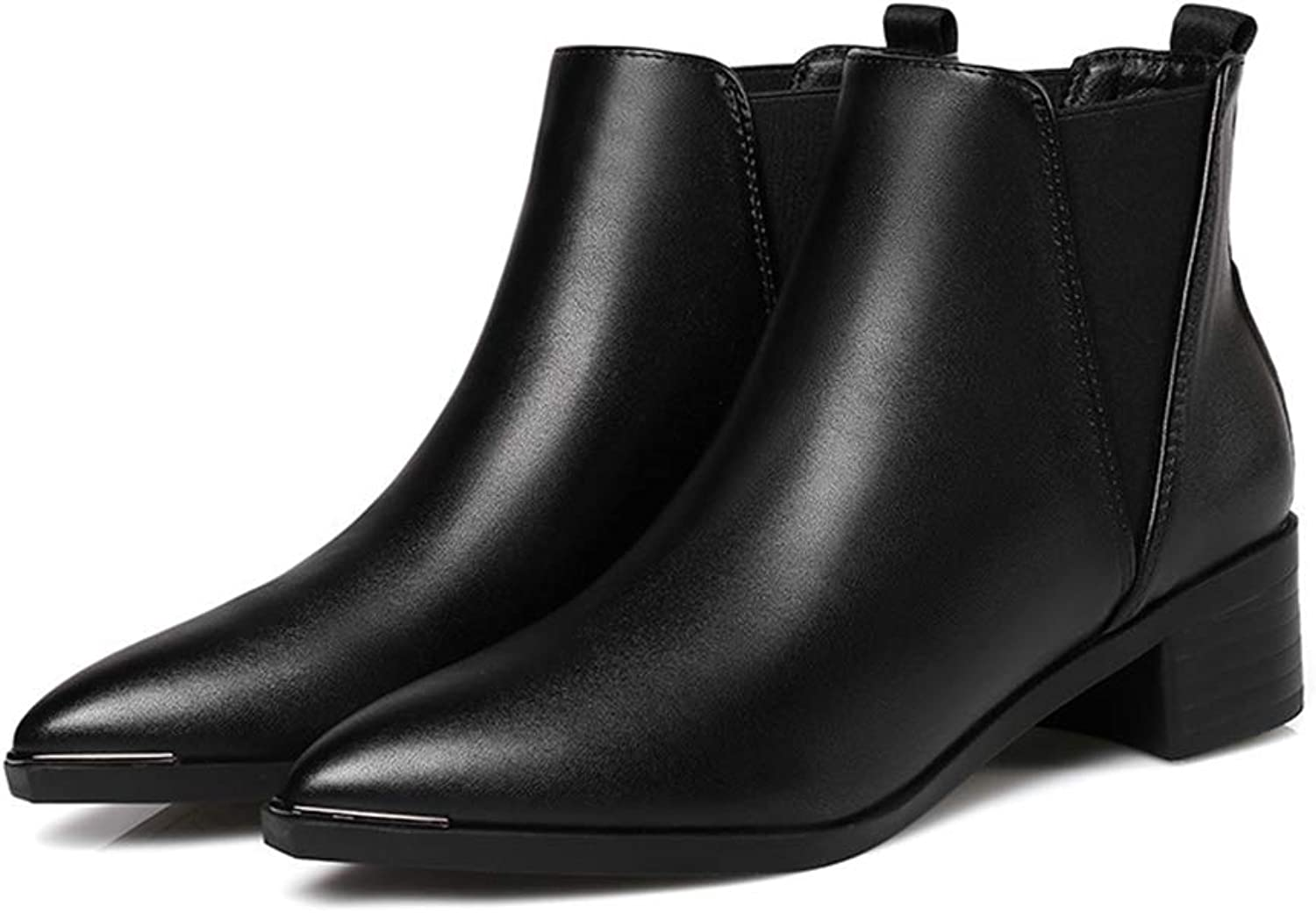 Women's Chelsea Booties Thick with Pointed Martin Boots