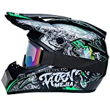 R&P Casco da motocross, adulto, outdoor, casco da mountain bike, integrale, per motocross, fuoristrada, motocross, motociclismo(specter,S)