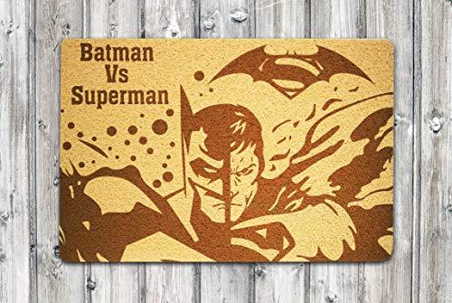 StarlingShop Felpudo de Batman y Superman, diseño de Batman y Superman