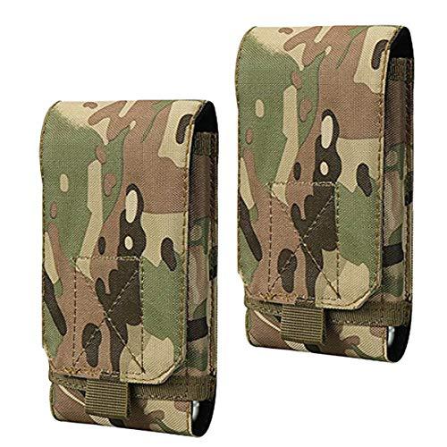 Shidan Tactical Molle Pouch, 1000D Nylon Compact Handytasche Gürteltasche für iPhone 11 Pro MAX/11Pro/11/XsMax/X/8P/8/7P/7/6, Samsung Note10/9/8/5, Galaxy S10+/S10/S9+/S9/S8+/S8/S7/S6