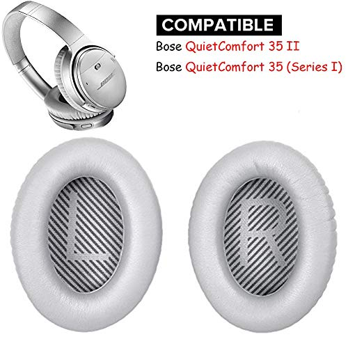Replacement Ear Pads Ear Cushion kit Compatible with Bose Quietcomfort 35 Over the Ear Headphones (QC35-Silver)