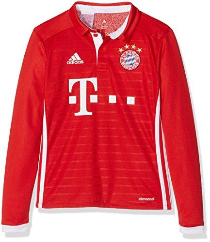 adidas Jungen Fußball/Heim-Trikot FC Bayern München Replica L Heimtrikot, FCB True Red/White, 164