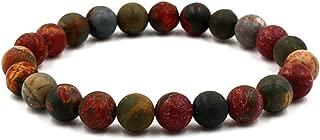 BaiYunPOY Beaded Bracelets for Women, 8mm Handmade Charm Prayer Beads Natural Energy Mens Beads Bracelet Healing Bangle