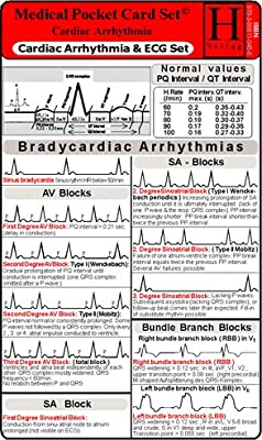 Cardiac Arrhythmia and ECG Set / Medical Pocket Card Set by Uwe Hawelka