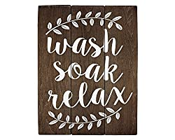 Wall Art Wood Sign  for  Bathroom  wall decoration