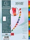 Exacompta Nature Future - Separadores alfabéticos (20 pestañas plastificadas, 29.7 x 22.50 cm),...