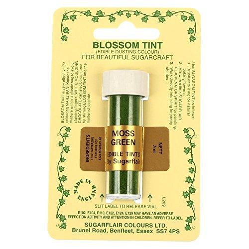 Sugarflair Blossom Tints Essbare Puderfarben Lebensmittelfarbe Fondant Puder Moss Green Grun