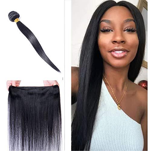 """10""""/25CM Tissage Naturel Cheveux Humain Mèches Brésiliennes Noir Naturel Tissage Lisee Raide Naturel 100% Brazilian Hair Bundles Human Hair"""