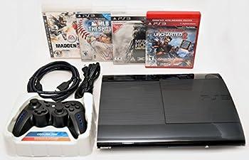 Sony Playstation 3 Super Slim 500GB Game Console System Bundle PS3 w/4 GAMES