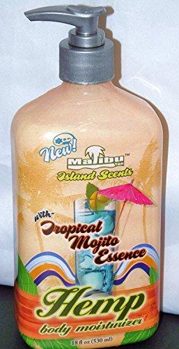 Malibu Hemp Body Moisturizer, Island Scents with Tropical Mojito Essence, 18 fl OZ