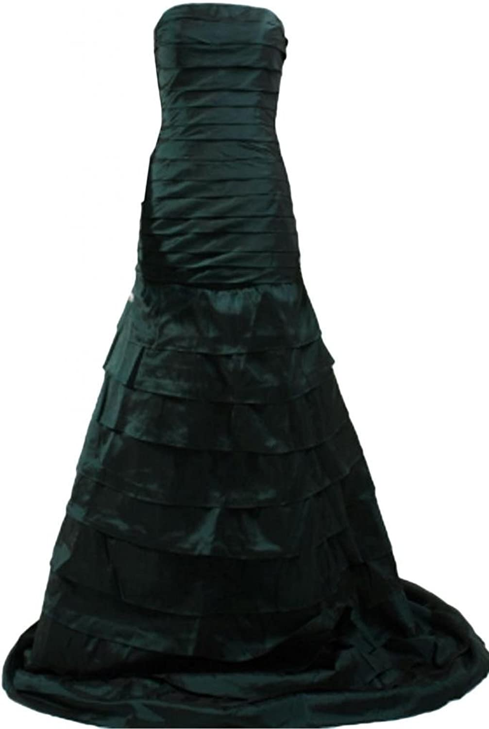 Angel Bride Strapless Prom Gowns Taffeta Evening Party Dresses