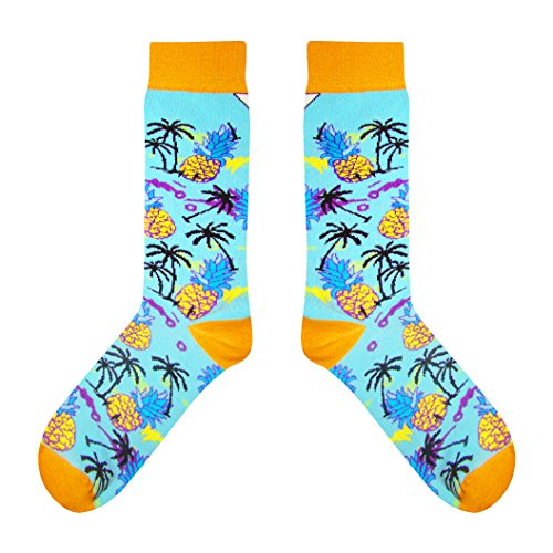 CUP OF SOX - Ananas/Palm - Socken in der Pappbecher - Herren & Damen Freizeit Socken, Türkis, 41-44