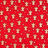 Fabulous Fabrics Baumwollstoff Popeline Glitzerengel –